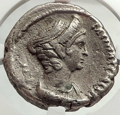 HADRIAN & SABINA Authentic Ancient 128AD EGYPT Roman Tetradrachm Coin NGC i68144