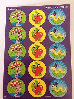 Wiggly Worms Scratch and Sniff Stickers - TEACHERS REWARD