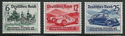 Germany Third Reich 1939 Berlin Automobile & Motorcycle Exhibition Set VF MNH!