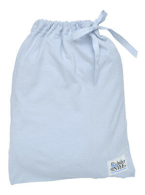 Under the Nile Fitted Crib Sheet With Bag - Ice Blue Organic Cotton