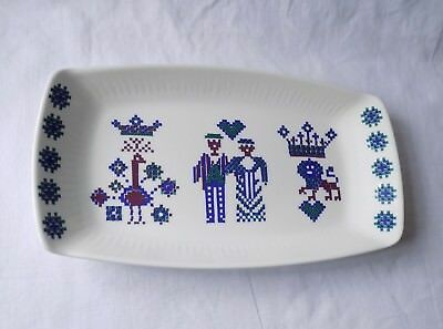 Vintage Figgjo Flint Pottery, Norway, Rectangular Dish. Rare Menu Design.