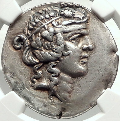 THASOS Thrace 148BC Dionysus Hercules Silver Greek Tetradrachm Coin NGC i68167