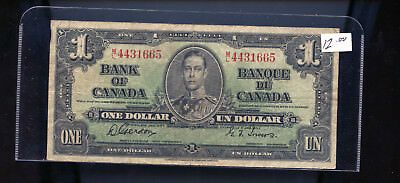 1937 Bank of Canada $1 Gordon Towers BL1369