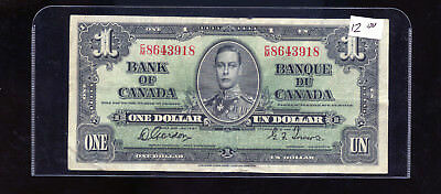 1937 Bank of Canada $1 Gordon Towers BL1374