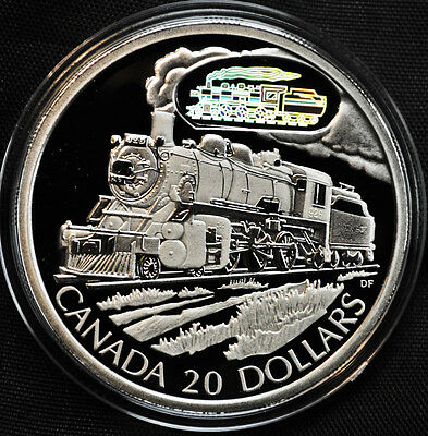 2002 Canada $20 Sterling Silver Coin - D-10 Locomotive