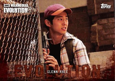 GLENN RHEE (Steven Yeun) Walking Dead Evolution BROWN PARALLEL Base Card #28