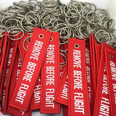 New Fabric Key Ring Remove Before Flight Keychain Pilot Bag Crew Luggage Tags