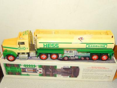 Older Hess Truck - 1990- Hess Toy Tanker Truck- Used- Yellow In  Color-  S1