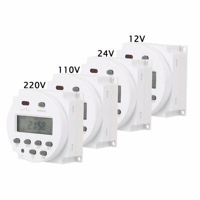 New Digital LCD Power Programmable Timer Control Power Time Switch DC 12V/24V