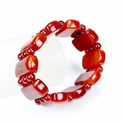 Natural red agate bracelet hand string beads lucky year of fate
