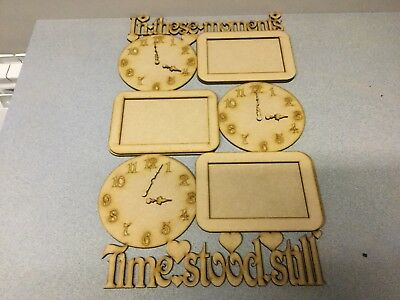 Wooden 4mm MDF laser cut - in These Moment Time stood still 3 frame