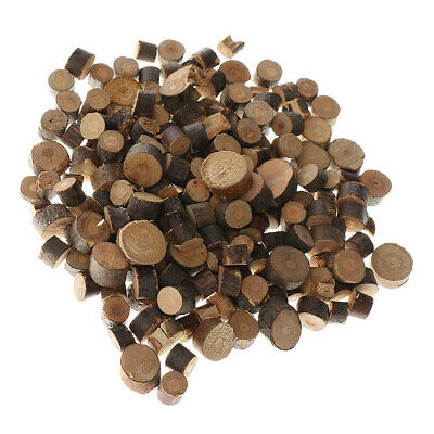 200pcs Wooden Wood Log Slices Discs Round Decorative Rustic Wedding Supplies