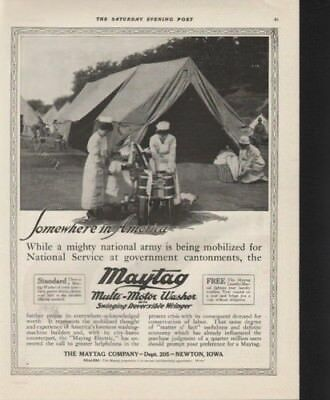 1917 Maytag Military Army Washer Launder Tent Nurse Ad 9565
