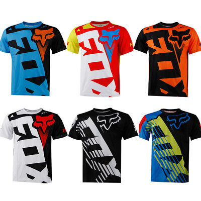 Fox race Riding Jersey T-shirts Men Motocross/MX/ATV/BMX/MTB Dirt Bike 15 Colors