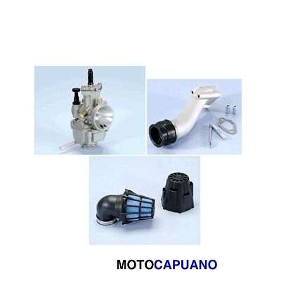 Kit Carburatore Dm 24 Collettore Filtro Polini Vespa Et3  125 130 50 Special R