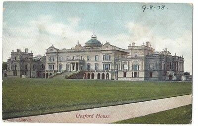 GOSFORD HOUSE Old Postcard by Hartmann, Postmarked Aberlady 1908