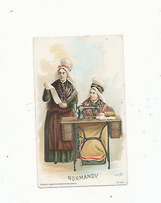 C7999    Victorian Trade Card Singer Sewing Machine Normandy