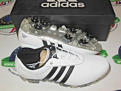 a76d67e3852 Adidas Adipure Flex Wd Waterproof Golf Shoes White black silver Uk Size 10  Wide