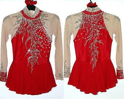 Ice figure skating dress Baton Twirling/Tap Costume Dance leotard Made to fit