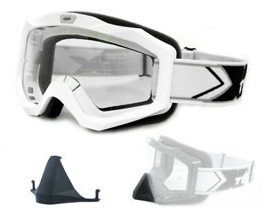 TWO-X EVO V2 Crossbrille MX Brille weiss Motocross Enduro Cross Downhill Goggle