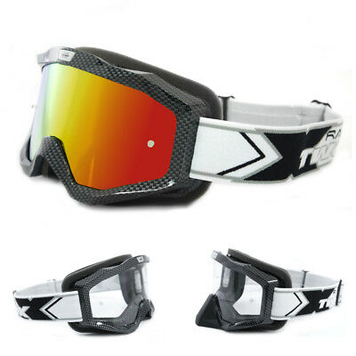 TWO-X EVO V2 Crossbrille Carbon iridium verspiegelt MX Enduro Motocross Brille
