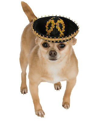 Sombrero Pet Black Gold Mexican Mariachi Charro Party Hat