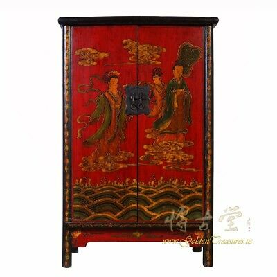 Chinese Antique ShaanXi Painted Cabinet/Wardrobe 18LP25