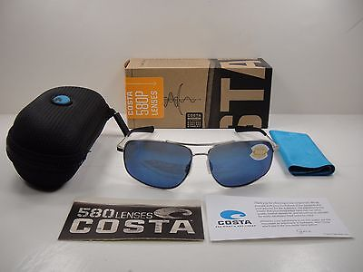 ce570c1347 Costa Del Mar Shipmaster Polarized Smr21 Obmp Sunglasses Palladium blue 580P