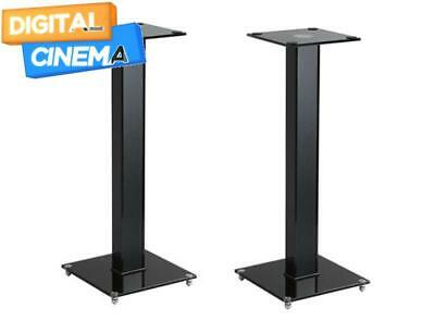 Premium Speaker Stands Pair with Cable Managed and Tempered Glass Base