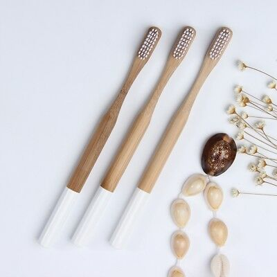 1/5/10pcs Environmental Bamboo Teeth Brushes Toothbrush Wooden Handle Oral Care