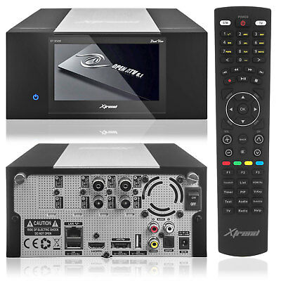 """Xtrend ET 8500 HD Linux Full HD HbbTV Receiver PVR 2xDVB-C Tuner 4,3"""" LCD"""