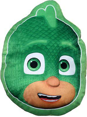 New Official Childrens Gecko Shaped Pj Mask Cushion Pillow