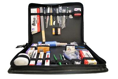 Deluxe Watchmakers Watch Repair Tool Kit in Faux Leather Case. Hobby. J2128