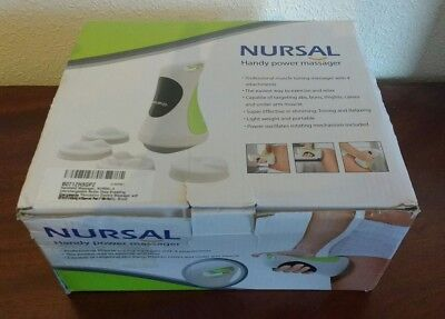 Handheld Massager, NURSAL 4 Handy Power Massager .. 4 Heads .. Variable Speed