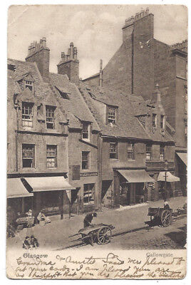 GLASGOW Gallowgate, Shop Fronts, Caledonia Series Postcard Postally Used 1905