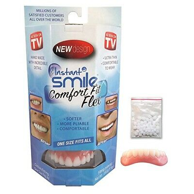 Instant Smile Comfort Fit Flex Top and Bottom Cosmetic Teeth Veneer Dr Bailey
