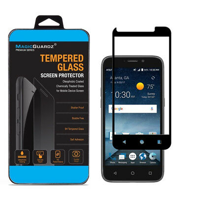 FULL COVER Premium Tempered Glass Screen Protector For ZTE Maven 3 / Overture 3