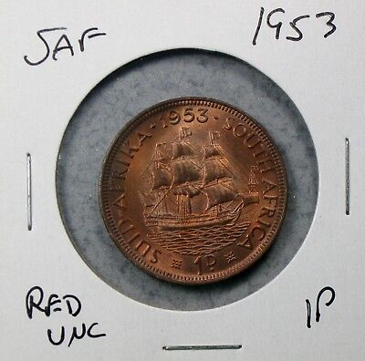 1953 South Africa Penny Uncirulated No Reserve!!