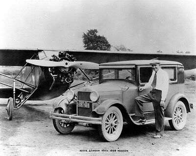 1928 Essex Coach Factory Photo Eddie Stinson ca9512