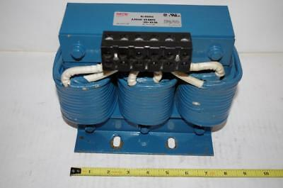 MTE CORP. # RL-05503  AC Line Reactor 3Ph 600V 0.85 mH 55 Amps  50/60 Hz