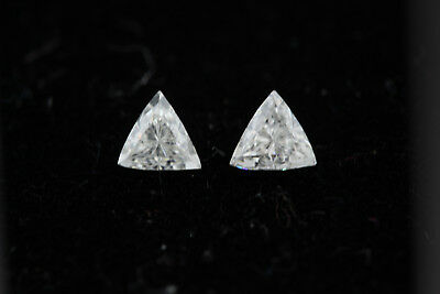 Matching .22ct Trillion Loose Diamond .44ctw Total I color, SI2 clarity 3.8mm