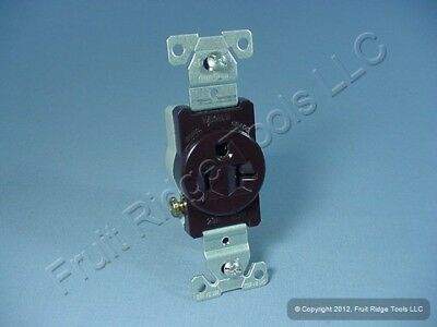 Cooper Brown COMMERCIAL Grade Single Outlet Receptacle NEMA 5-20R 20A 125V 1877B