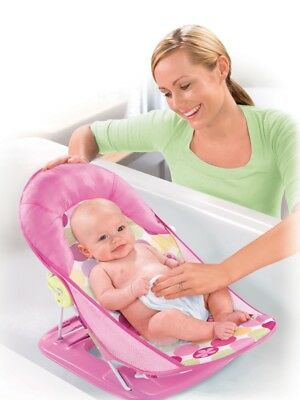 Summer Infant Deluxe Baby Bather Circle Daisy- Bath Seat - Soft and Adjustable