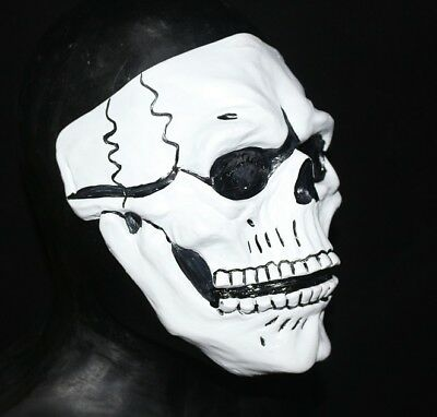 Deluxe White Skull Mask Moving Mouth Day Of The Dead Bond Spectre Fancy Dress