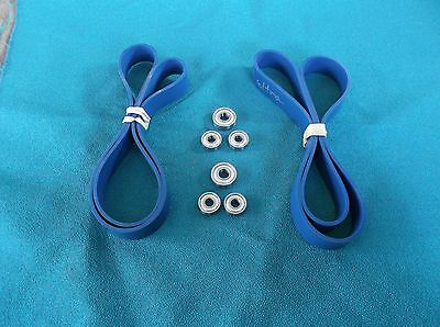 2 Blue Max Ultra Duty Band Saw Tires And 6 Guide Bearing Set For Grizzly G0555