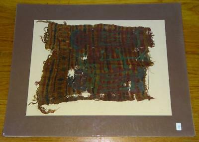 "Ancient EGYPTIAN Multi-Colored COPTIC TEXTILE FRAGMENT FABRIC Piece 10""x13"""
