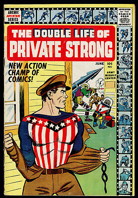 1959 Archie Comics The Double Life of Private Strong #1 FN-