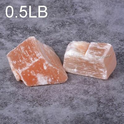 Rough Raw Orange Selenite Healing Crystal Chakra Reiki Gemstone Specimens 0.5LB