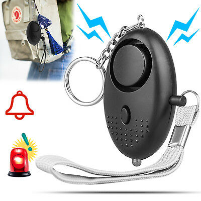 Emergency Self Defense Personal Whistle Alarm Keychain 130DB Siren Safety LED