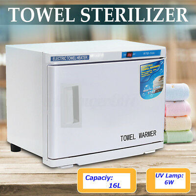 UV Towel Tool Sterilizer Warmer Cabinet Spa Facial Disinfection Salon Beauty 16L